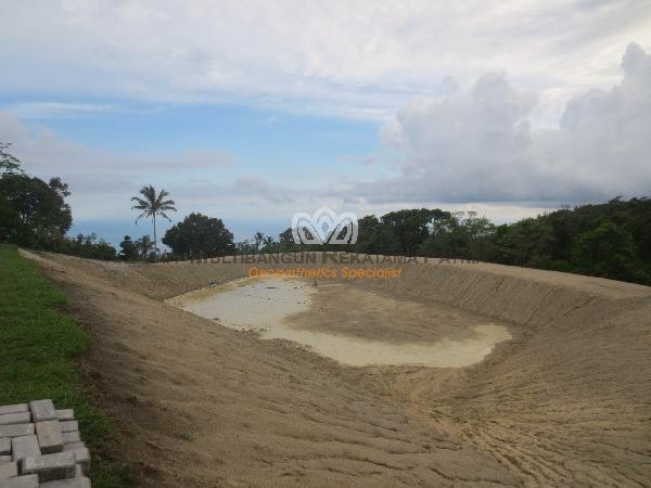Geotextile Pembangunan Embung Kele, Kuanfatu, Kab Timor Tengah Selatan, prop NTT 01