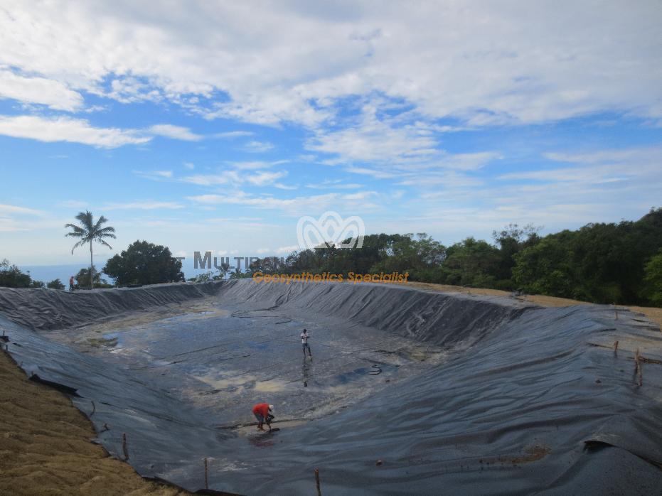 Geomembrane Pembangunan Embung Kele, Kuanfatu, Kab Timor Tengah Selatan, prop NTT 05